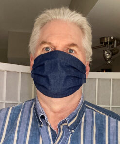 Big Man's Fabric Face Mask the Bill Mask blue Denim