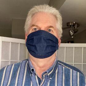 Big Man's Fabric Face Mask the Bill Mask blue Denim