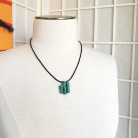 copper tube patina pendant