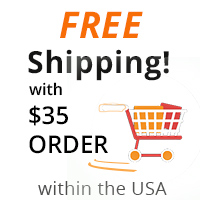 free shipping with $35 order in the usa