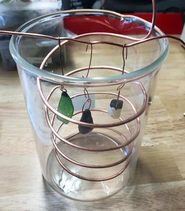 electroplating bath beaker