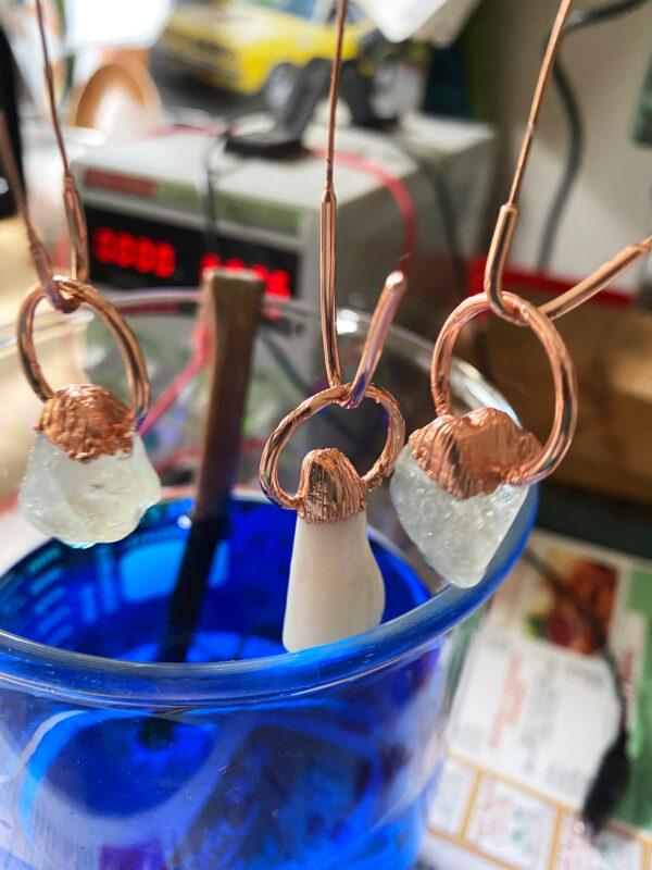 electroforming crystal pendants