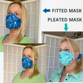 ocean fabric face mask fit