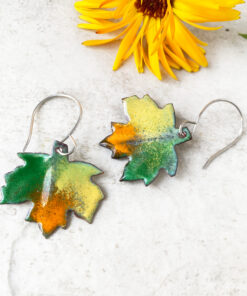 enamel maple leaf colorful enameled copper fall leaf